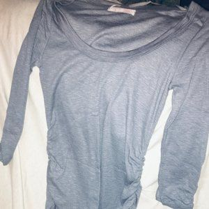 Grey Half sleeve polyester shirt
